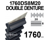 Courroie 1760DS8M20 Double denture. 20 mm x 1760 mm.