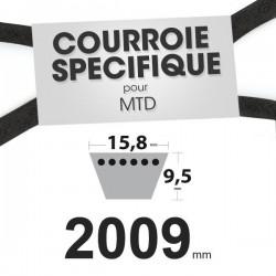 Courroie spécifique MTD 7540349. 12,7 mm x 2009 mm.