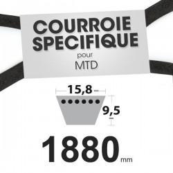 Courroie spécifique MTD 7540371A. 15,8 mm x 1880 mm.