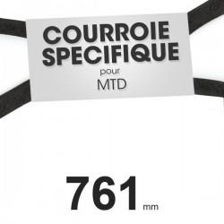 Courroie spécifique MTD 7540346. 9,5 mm x 761 mm.