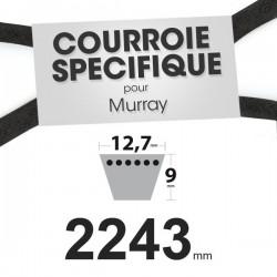 Courroie spécifique Murray 37 x 26. 12,7 mm x 2243 mm.