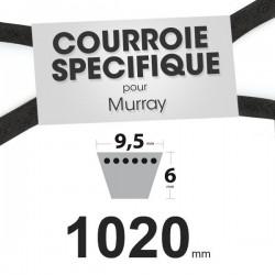 Courroie spécifique Murray 37 x 49. 9,5 mm x 1020 mm.