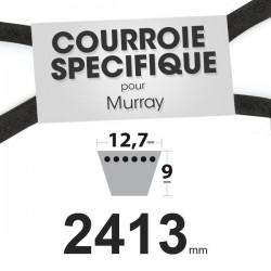 Courroie spécifique Murray 37 x 61. 12,7 mm x 2413 mm.