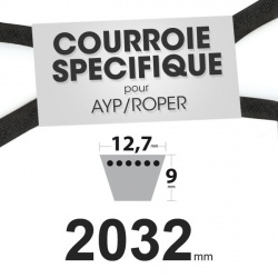 Courroie spécifique AYP/Roper 124293X. 12,7 mm x 2032 mm.