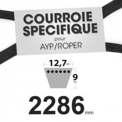 Courroie spécifique AYP/Roper 125907X. 12,7 mm x 2286 mm.