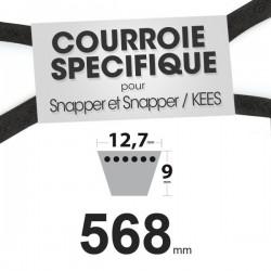 Courroie spécifique Snapper 12354. 12,7 mm x 568 mm.