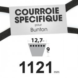 Courroie spécifique Ransomes PLO619. 12,7 mm x 1121 mm.