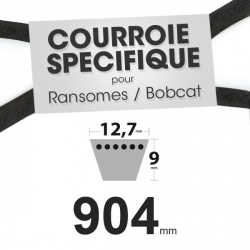 Courroie spécifique Ransomes 38016 N. 12,7 mm x 904 mm.