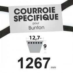 Courroie spécifique Bunton PLO643. 12,7 mm x 1267 mm.