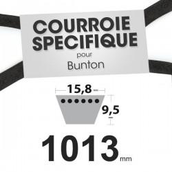 Courroie spécifique Bunton PLO848. 12,7 mm x 1013 mm.