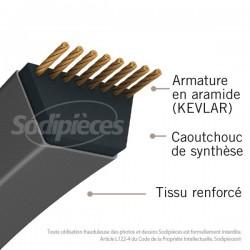 Courroie 5L55 Kevlar Trapézoïdale. 15,8 mm x 1397 mm.