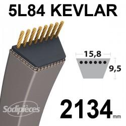 Courroie 5L84 Kevlar Trapézoïdale. 15,8 mm x 2134 mm.