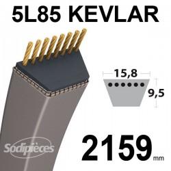Courroie 5L85 Kevlar Trapézoïdale. 15,8 mm x 2159 mm.