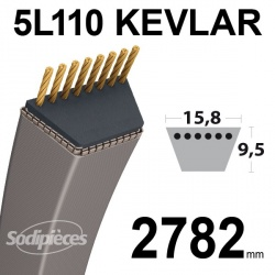Courroie 5L110 Kevlar Trapézoïdale. 15,8 mm x 2782 mm.