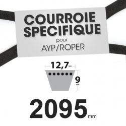 Courroie spécifique AYP/Roper 140067. 12,7 mm x 2095 mm.