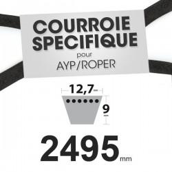 Courroie spécifique AYP/Roper 131006. 12,7 mm x 2495 mm.