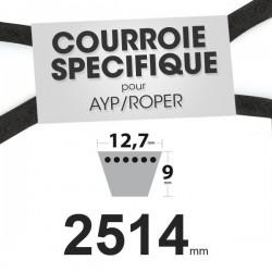 Courroie spécifique AYP/Roper 110883X. 12,7 mm x 2514 mm.