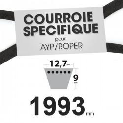 Courroie spécifique AYP/Roper 131264. 12,7 mm x 1993 mm.