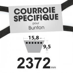 Courroie spécifique Bunton PL7014. 15,8 mm x 2372 mm.