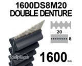 Courroie 1600DS8M20 Double Denture. 20 mm x 1600 mm.