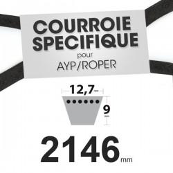 Courroie spécifique AYP/Roper 140218. 12,7 mm x 2146 mm.