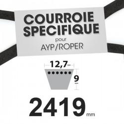 Courroie spécifique AYP/Roper 138255, 130801. 12,7 mm x 2419 mm.