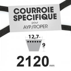 Courroie spécifique AYP/Roper 137153 et 139573. 12,7 mm x 2120 mm.