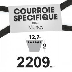 Courroie spécifique Murray 37 x 89. 12,7 mm x 2209 mm.