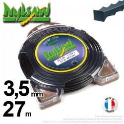 Fil débroussailleuse nylsaw ®. Coque 3,5 mm x 27 m