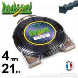 Fil débroussailleuse nylsaw ®. Coque 4 mm x 21 m