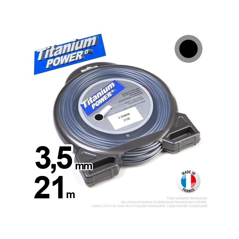 Fil débroussailleuse Titanium ®. Coque rond 3.5 mm x 21 m