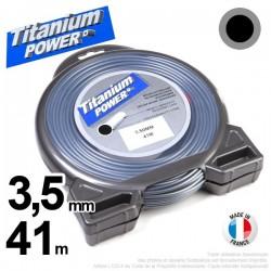 Fil débroussailleuse Titanium ®. Coque rond 3.5 mm x 41 m