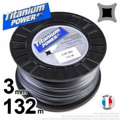 Fil débroussailleuse Titanium ®. Carré. Bobine : 3 mm x 132 m