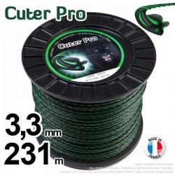 Fil débroussailleuse Cuter' Pro ®. Bobine 3,3 mm x 231 m. Hélicoïdal.