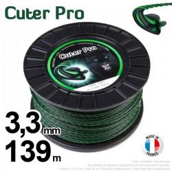 Fil débroussailleuse Cuter' Pro ®. Bobine 3,3 mm x 139 m