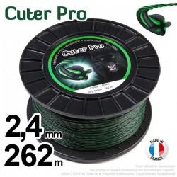 Fil débroussailleuse Cuter' Pro ®. Bobine 2,4 mm x 262 m