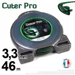 Fil débroussailleuse Cuter' Pro ®. Coque 3,3 mm x 46 m. Hélicoïdal.