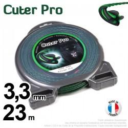 Fil débroussailleuse Cuter' Pro ®. Coque 3,3 mm x 23 m. Hélicoïdal.