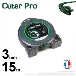 Fil débroussailleuse Cuter' Pro ®. Coque 3 mm x 15 m.Hélicoïdal