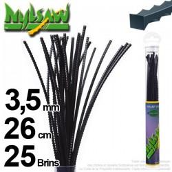 Fil débroussailleuse nylsaw ®. Tube 3,5 mm x 0,26 m. Lot de 25 brins.