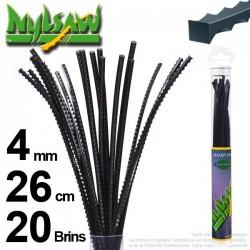 Fil débroussailleuse nylsaw ®. Tube 4 mm x 0,26 m.  Lot de 20 brins.