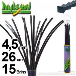 Fil débroussailleuse nylsaw ®. Tube 4,5 mm x 0,26 m. Lot de 15 brins.