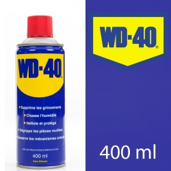 WD 40. Protège, dégrippe, nettoie, lubrifie. 400 ml