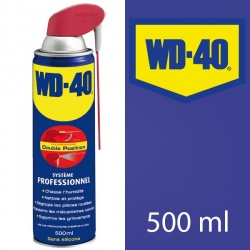 WD 40. Protège, dégrippe, nettoie, lubrifie. 500 ml système professionnel