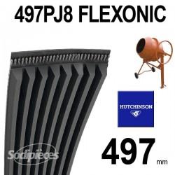 Poly-V Elastique FLEXONIC 497PJ8 Hutchinson