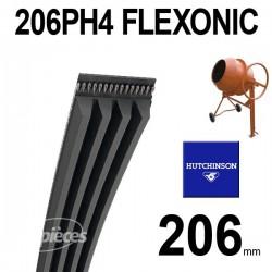 Poly-V Elastique FLEXONIC 206PH4 Hutchinson