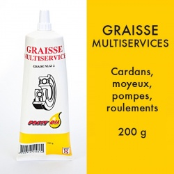 Graisse Multiservice. Tube de 200 grs.