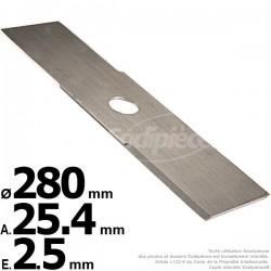 Lame droite. Ø 280 mm. Al 25,4 mm. Ep 2,5 mm.