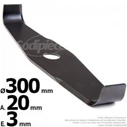 Lame droite spéciale ronce. Ø 300 mm. Al 20 mm. Ep 3 mm.
