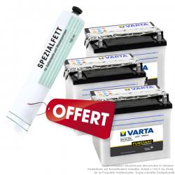 3 Batteries Varta achetées... un tube de graisse spéciale pole batterie offert